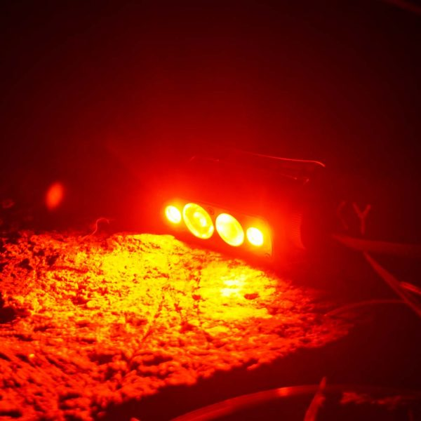 18650 led headlamp with red