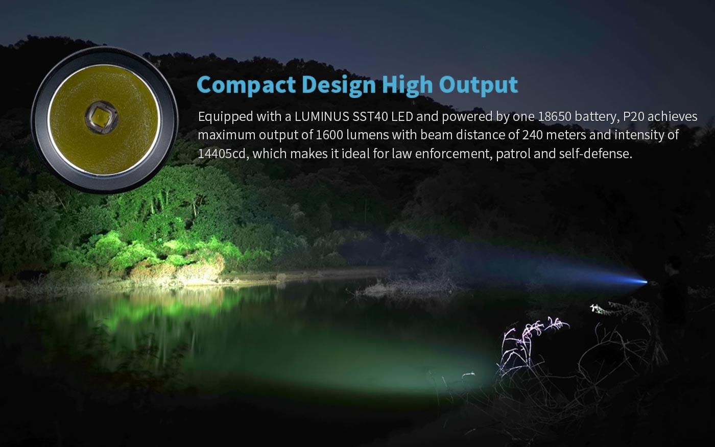 18650 battery outdoor flashlight, outdoor practical flashlight