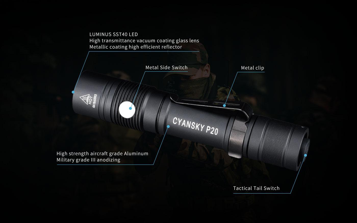 waterproof rechargeable outdoor flashlight, waterproof tactical flashlight, waterproof led torch