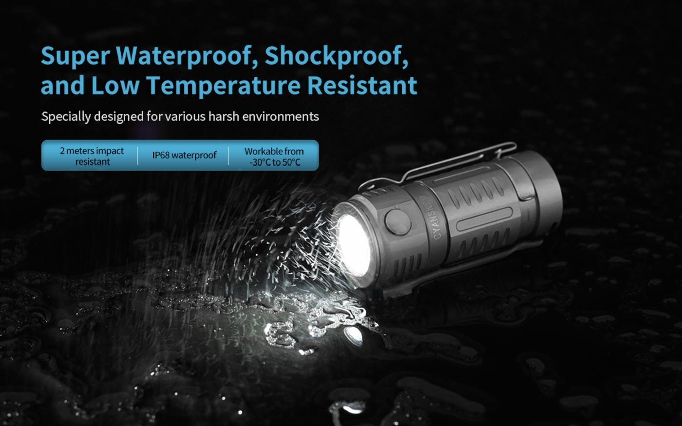 waterproof led flashlight, led flashlight for bad weather, super tough led flashlight
