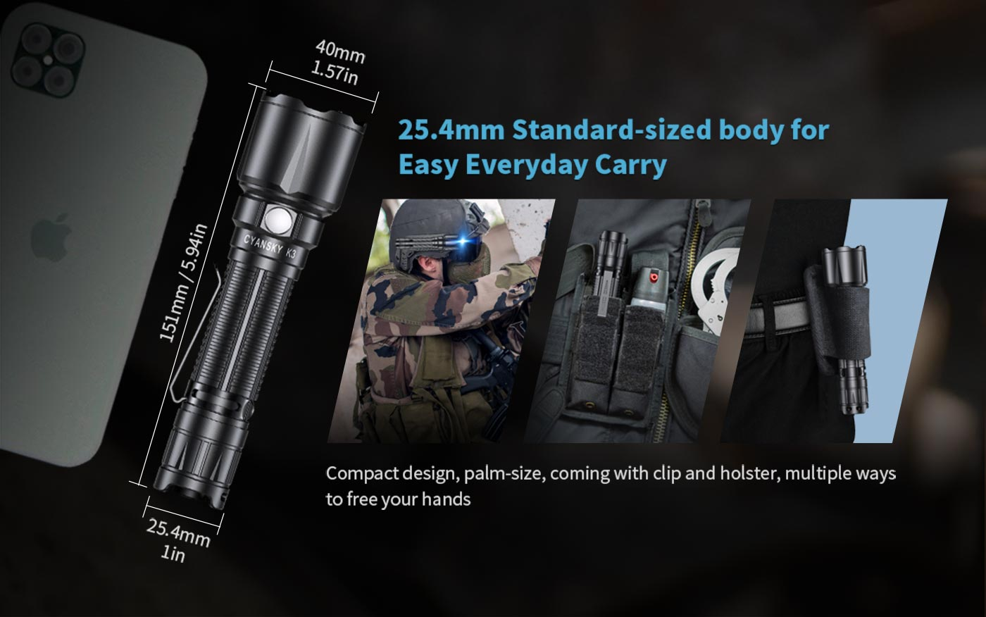 portable led flashlight tactical, self defense and police tactical flashlight torch, brightest tactical flashlight