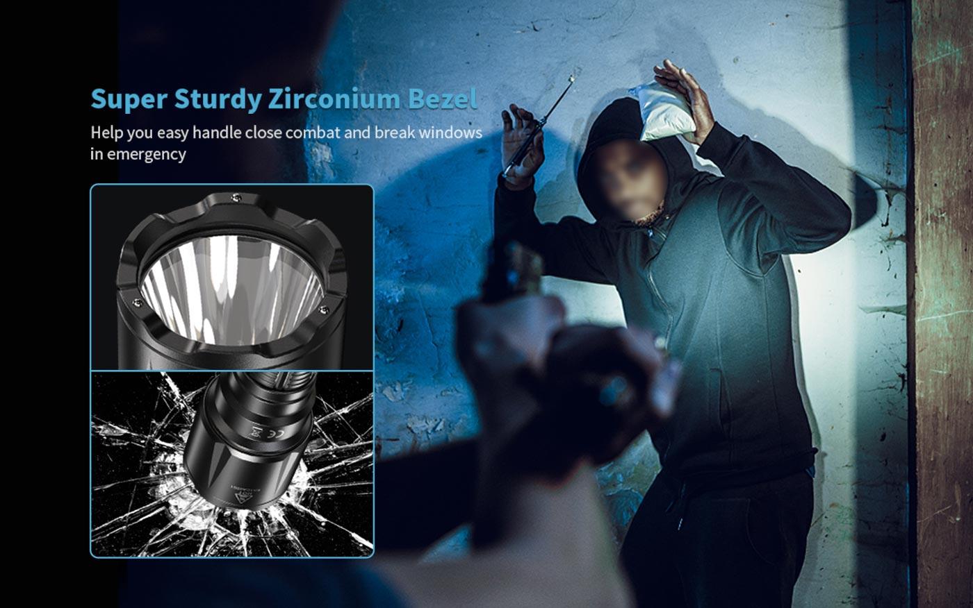 combat led flashlight, edc flashlight for self defense, opponent combat flashlight