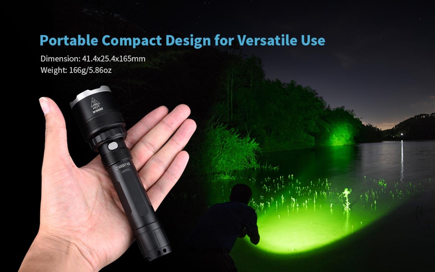 Campact hunting torch, hunting flashlight torch, portable hunting torch