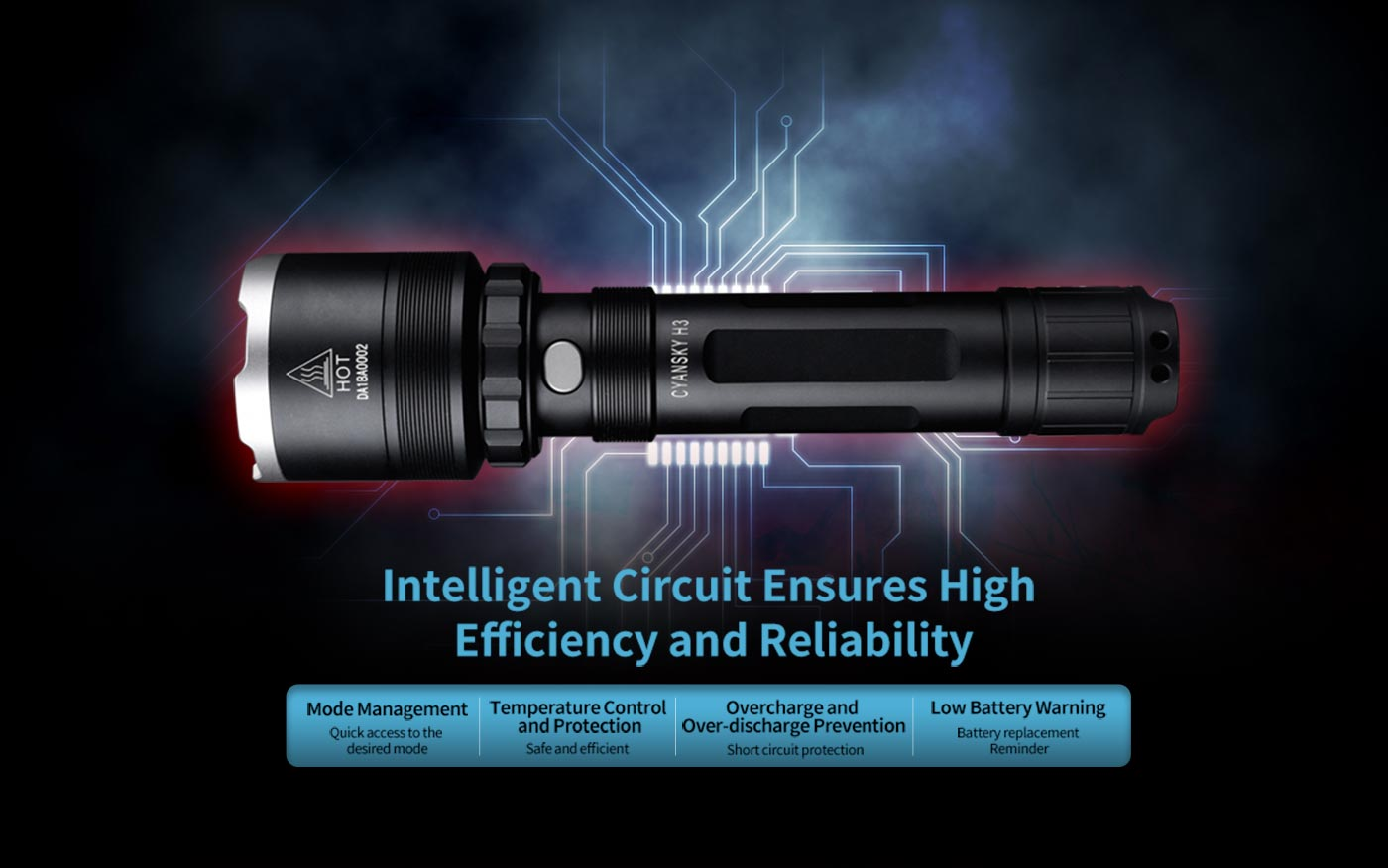 reliable gunshot flashlight, led hunting flashlight, tactical rifle flashlight